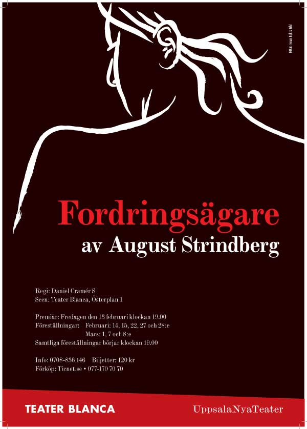 Affisch Fordrings�garen av August Strindberg